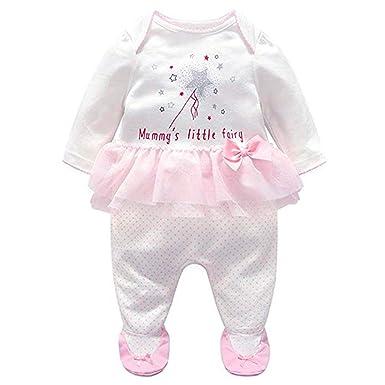 r.b.hickory Bebé Niñas Pijama Tutú Mamelucos de Algodón Peleles Ropa de Dormir Monos de Manga Larga: Amazon.es: Ropa y accesorios