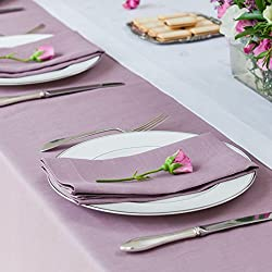 Huddleson Heather Lavender Lilac Pure Linen Napkin 20x20 (Set of Four)