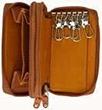 Genuine Leather Zipper Key Chain Holder Wallet #212CF
