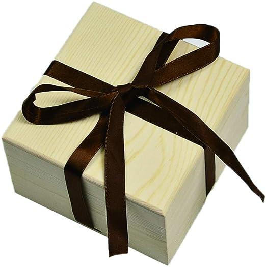 Daliuing Caja de Regalo de Madera Caja de Embalaje de Cumpleaños ...