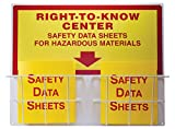 """Product review for Accuform ZRS335 RIGHT-TO-KNOW CENTER, 0.063"""" Thick Aluminum Board with (2) Coated Wire Basket, (2) 1-1/2"""" Safety Data Sheets 3-Ring Binder Included, 24"""" Length x 30"""" Width, Red/Yellow on White"""