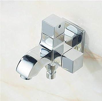 Faucet faucet faucet retro blackboard montado en la pared baño lavado teléfono móvil grifo fregadero fregadero grifo doble usuario exterior grifo jardín Grifo: Amazon.es: Bricolaje y herramientas
