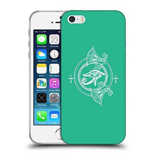 GoGoMobile Coque de Protection TPU Silicone Case pour // Q09910626 Religion 31 Caraïbes Vert // Apple iPhone 5 5S 5G SE