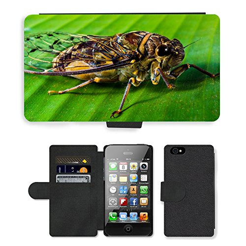 Just Phone Cases PU Leather Flip Custodia Protettiva Case Cover per // M00127716 Insecte nouvel insecte Whopper Fermer // Apple iPhone 4 4S 4G