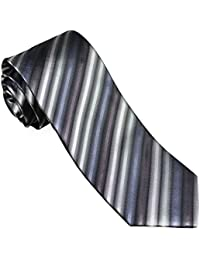 "<span class=""a-offscreen"">[Sponsored]</span>Charcoal Striped Silk Necktie Set by Paul Malone"