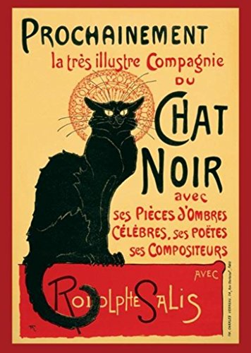 Le Chat Noir The Black Cat Paris Art Print Poster 24x36 inch