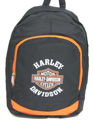 Licensed Harley Davidson Black / Orange Backpack HD, Outdoor Stuffs