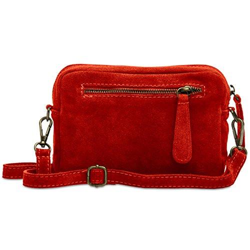 CASPAR Fashion - Bolso cruzados para mujer Rojo