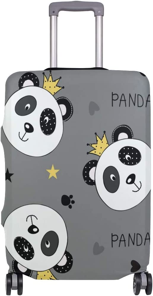 FOLPPLY Panda Crown Pattern Luggage Cover Baggage Suitcase Travel Protector Fit for 18-32 Inch