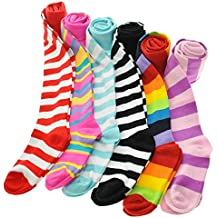Angelina 6-Pack Girl's Colorful Assorted Winter Tights [Heel and Toe]