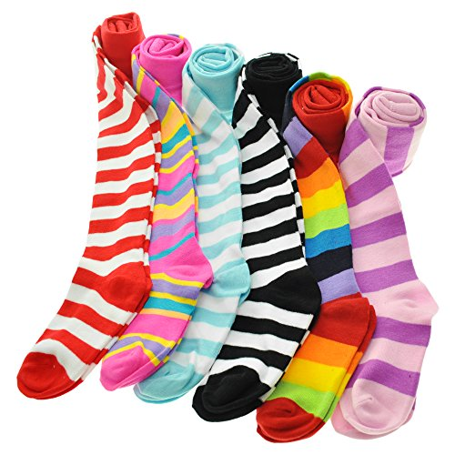 Angelina 6-Pack Girl's Colorful Assorted Patterned Winter Tights [Heel and Toe], 0031_1_2-4 ()