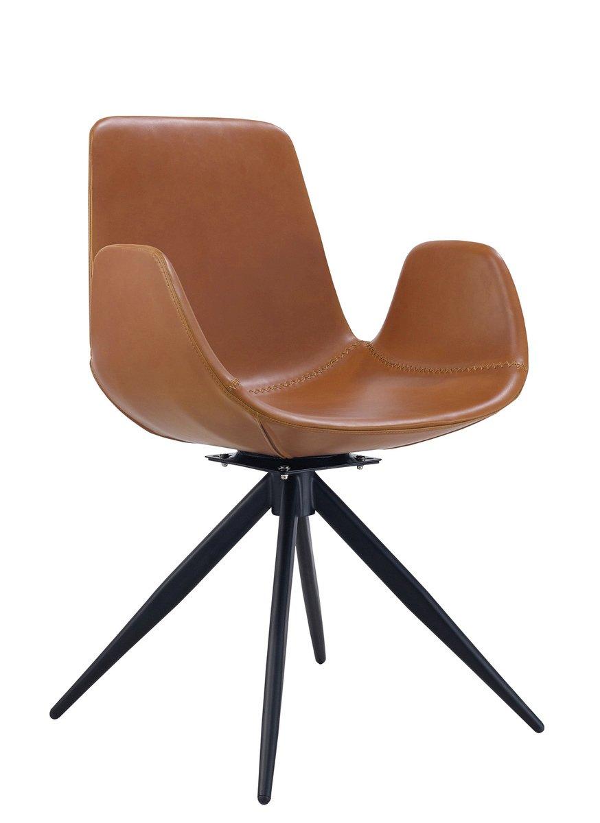 KAWOLA Stuhl QUEN Esszimmerstuhl Besprechungsstuhl Besprechungsstuhl Besprechungsstuhl Drehstuhl braun bcf143
