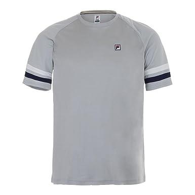 944e9a5fc5c1 Fila Men's Legend Tennis Crew Shirt, Highrise, White, Navy, ...