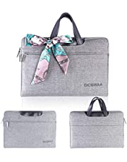 DCBRAA Laptop Bag 15.6 for Women-Waterproof Ladies Men Laptop Tote Bag Briefcase,for MacBook Air Dell Lenovo HP Samsung Laptop Case - Gray