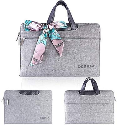 DCBRAA - Maletín Impermeable para Ordenador portátil de 15,6 Pulgadas para Mujer y Hombre, Color Gris