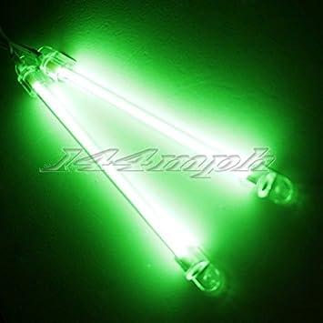 SMO 2 X 15cm Auto Exterieur Interieur Neon-Licht Lampe Grün: Amazon ...