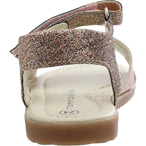 Tommy Hilfiger T1A2-00241-0067 Pink Leather Infant Strap Sandals Pink