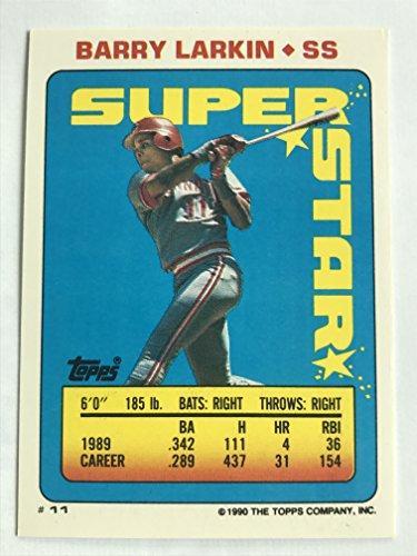1990 Topps Sticker Backs #11(66,283) Barry Larkin NM/M (Near Mint/Mint) ()