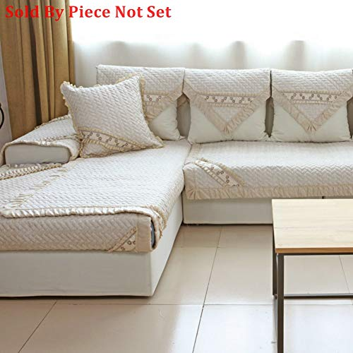 Cotton Anti-Slip Quilted Furniture Protectors for pet Dog,Sofa Throw slipcover Slip Cover Sectional Sofa Throw Cover pad for l U Shaped Sofa for All Season-1 Piece-C 35x63inch(90x160cm)
