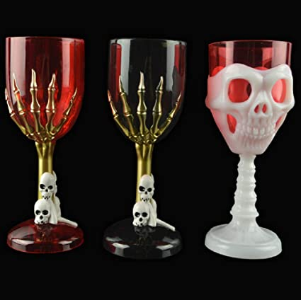 halloween plastic glasses set of 3 drinking cups for for halloweenbirthday christmas - Christmas Drinking Glasses