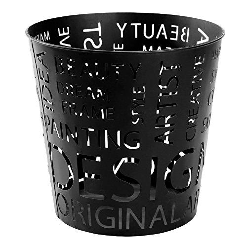 MyGift Metal Cutout Design 3-Gallon Round Wastebasket (Cut Out Design Metal)