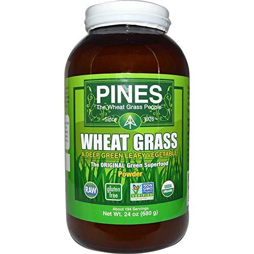 Pines Organic Wheat Grass Powder, 24 Ounce ()