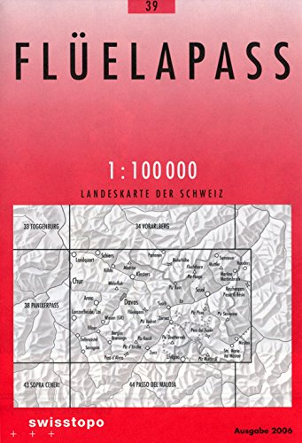 Davos & Fluelapass (Switzerland) 1:100,000 Topo Map #39