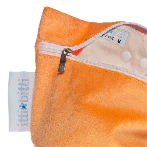 Itti Bitti Luxury Minkee - Bolsa para pañales sucios (talla única), color naranja: Amazon.es: Bebé