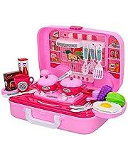 ColorBaby Keuken, koffer met 17 accessoires, kinderen, eten, keuken, speelgoed, meisjes, 3 jaar, (49156), meerkleurig