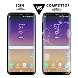 Galaxy S8 Glass Screen Protector SGIN, [2Pack]Highest Quality Premium Tempered Glass Anti-Scratch, Clear High Definition (HD) Screen Film for Galaxy S8(Full Screen Coverage)