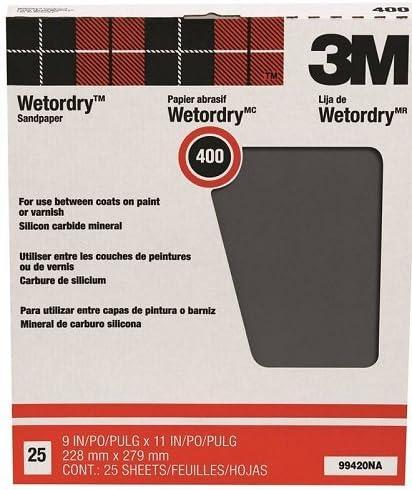 3M Pro-Pak 400 Grit Wetordry Sanding Sheets