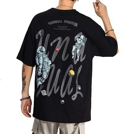 Astronauta Planetas Imprimir Camisetas de Manga Corta Streetwear Hip Hop Casual Punk Rock Hispter Tops Camisetas 2020 Camisetas de Moda: Amazon.es: Ropa y accesorios