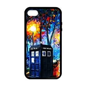 SUUER Rubber Silicone Doctor Who TARDIS background Designer Personalized Custom Plastic Rubber Tpu CASE for iPhone 5 5s Durable Case Cover