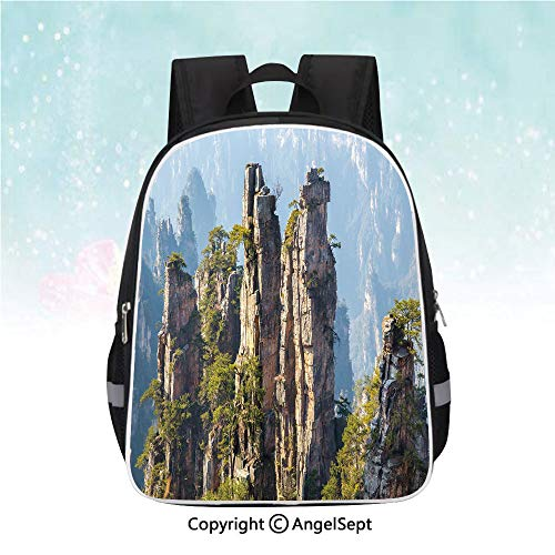 Schoolbag for Kids,Rock Formations Natural Wonders of the World Asian Image,13