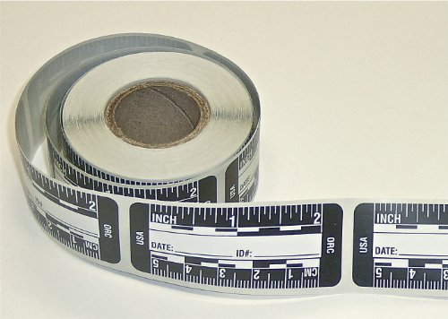 (Ruler - Adhesive Backed Decal on a Roll - Fractional/Metric - 2 Inch (5 Centimeter) Long - Left to Right - 200 per Roll - Black)