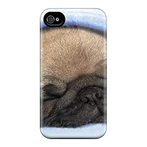 Snap-on Case Designed For Iphone 4/4s- Sleeping Pug
