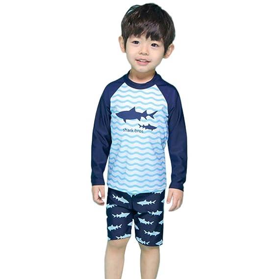 b4392f7c816 diandianshop Children Swimsuits Sets Children Kids Boys Girls Cartoon Shark  Top+Wave Shorts+Hat