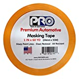 PRO Tapes Premium Automotive Masking Tape 1 IN x 60 YDS on 3'' Core Case; Case of 36