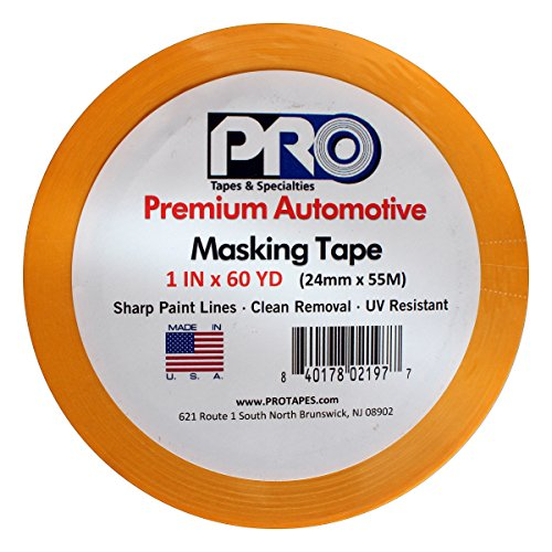 PRO Tapes Premium Automotive Masking Tape 1 IN x 60 YDS on 3