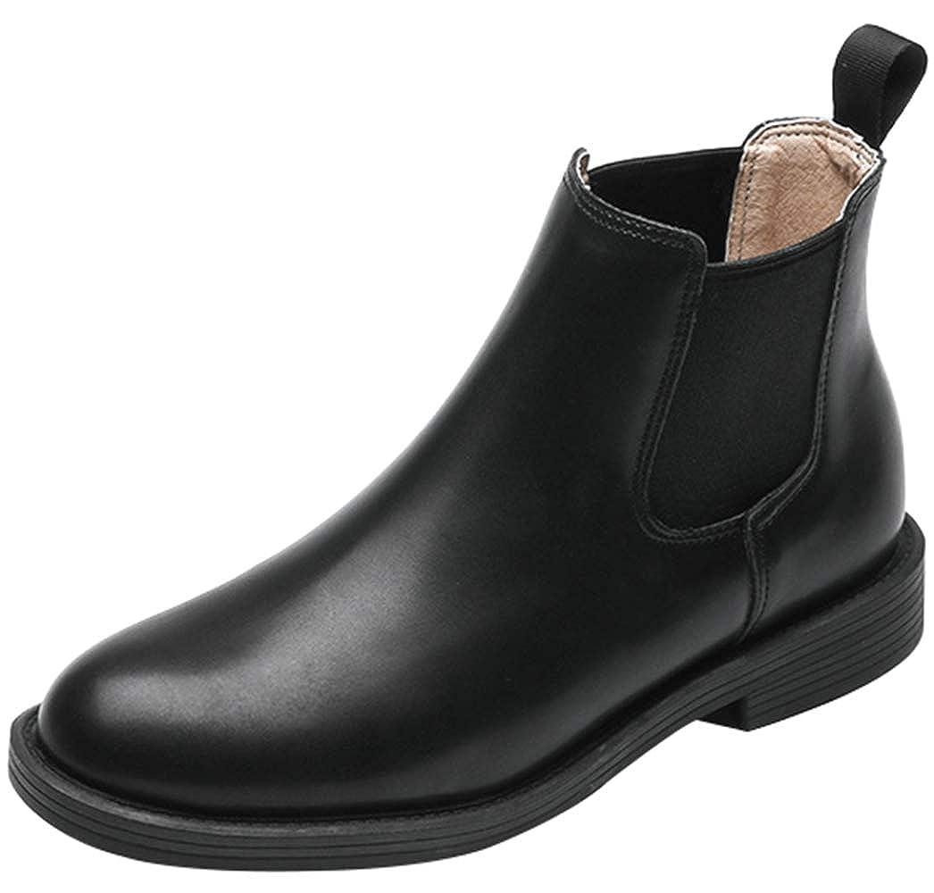 RSHENG Stiefelen Damen Slip-On Low Heel Ankle Stiefel Mode Mode Mode Chelsea Stiefel 7ad5c2