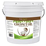 Coconut Oil (1 Gallon) by Pure Organic Ingredients, Ultra Pure, Refined, Filtered, Food Grade, Non-Hydrogenated, No Coconut Flavor or Scent, Non-GMO For Sale