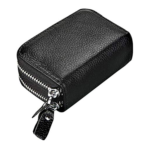 Men & Women's WalletsSmall Compact RFID Blocking Real Leather Wallet,Credit Card Holder for Women Ladies Wallets,Cute Credit Card Zipper Wallet Small PurseSmall Accordion Wallets