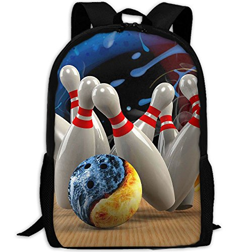 (Phyllis Walker Backpack Play Bowling Print Fashion College Double Shoulder Bag Travel Outdoor Camping Crossbody Bags for Men Women)