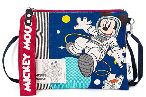 Canvas Minie Cartoon Striped Clutch Mickey ililily Astronaut Disney Pouch wqXTngqp