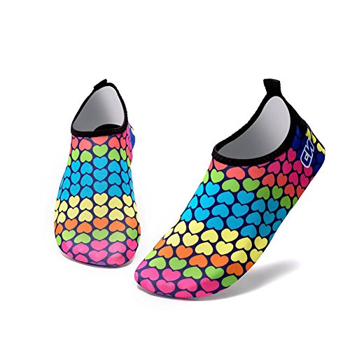 Highdas Sports Water Shoes Unisex Slip on Water Aqua Shoes Quick Dry Barefoot Shoes For Swim, Walking, Yoga, Lake, Beach, Driving, Boating 26#