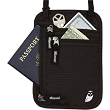 Minowl Travel Wallet RFID Blocking Passport Holder Neck Pouch Travel Accessories