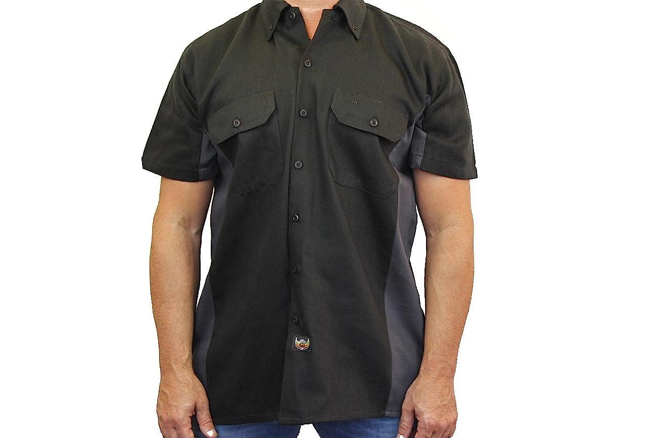 Mens Mechanic Work Shirt Hog Heaven Shut Up and Ride