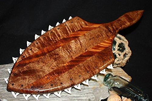 """AAA Grade Alii Warrior Club 21"""" - 22 Shark Teeth   #koa4125"""