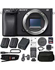 $1098 » Sony Alpha a6400 Mirrorless: Digital Camera (Body Only ILCE-6400/B) + Sony NP-FW50 Battery, Spare FW50 Battery, 128GB SDXC 1200x Card, Card Reader, Case, AC Adapter Bundle Kit - International Version