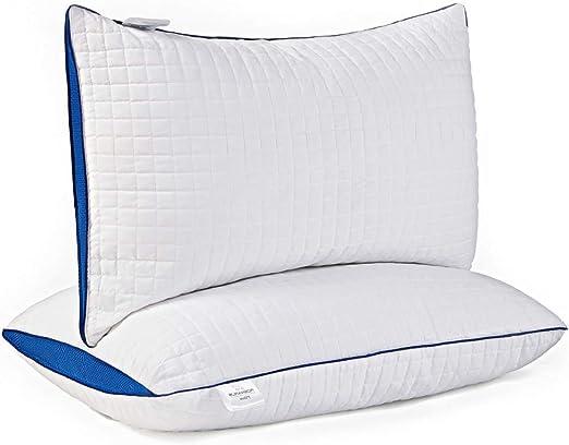 """Down Alternative Pillow Fluffy 2 Pack Queen Best Hotel Pillows 2/"""" Gusset"""